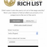 Check out how rich are you globally!